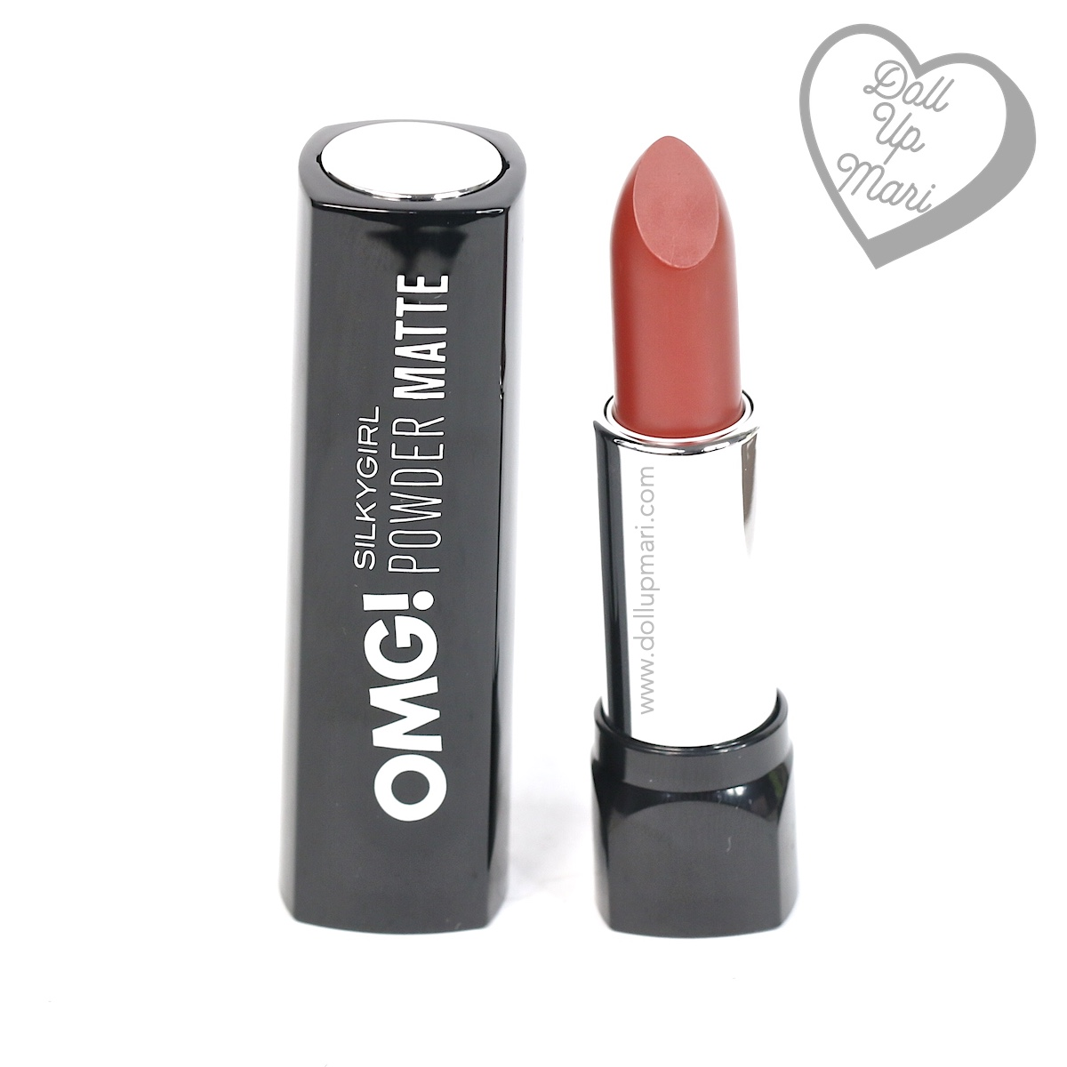pack shot of Silkygirl OMG! Powder Matte Lipcolor Lipstick (04-Maroon)