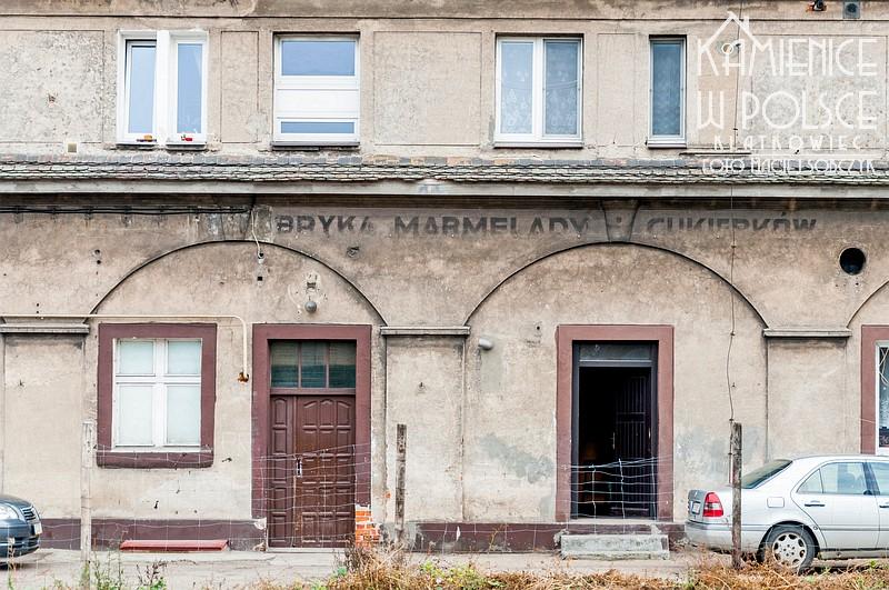 Luboń. Fabryka Marmelady i Cukierków. Stary napis.