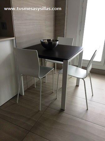 Mesa cocina o comedor fija, extensible 90x70 cm   mesas de cocina y ...