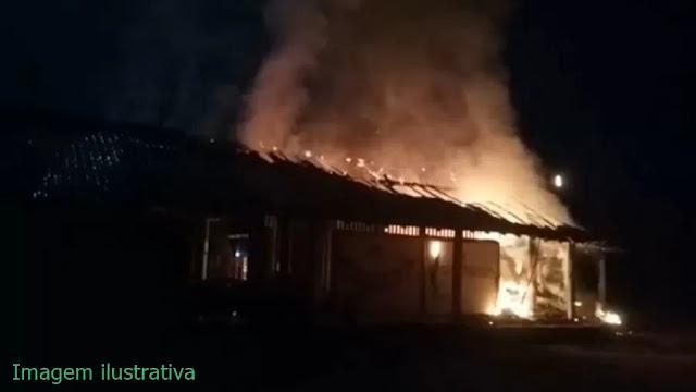 Incêndio causa morte de um indígena em Manoel Ribas