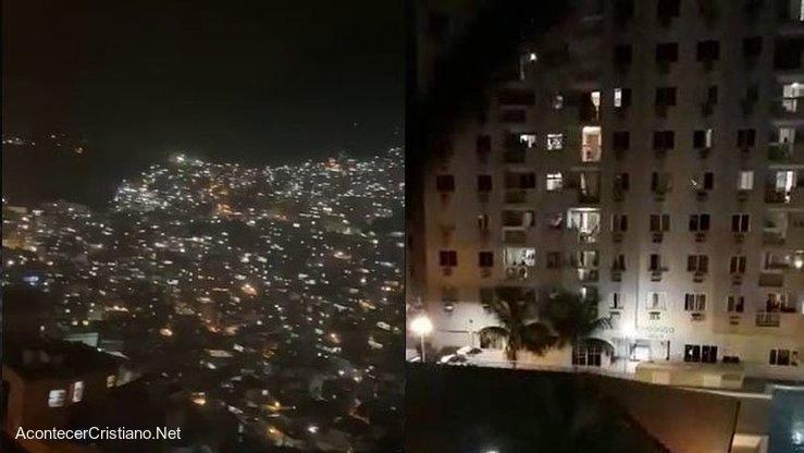 Brasileños cantan alabanzas en sus ventanas durante cuarentena