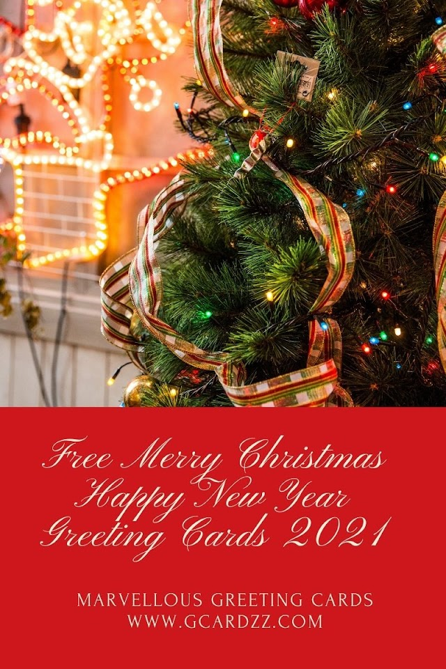 Free Merry Christmas Happy New Year Greeting Cards