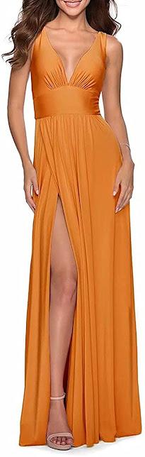 Beautiful Orange Chiffon Bridesmaid Dresses