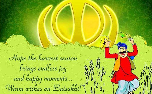 New Happy Baisakhi Short Msg Wishes Quotes Status~14 April