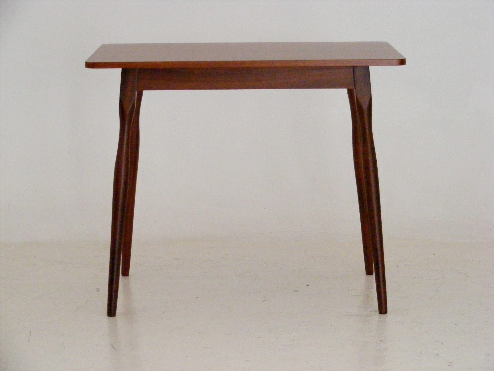 A Small Two Seater Mid Century Dining Table Or Desk In Sapele And Mahogany Wood 92cm X 61cm Height 76cm R1950 Please Call Us On 021 448 2755 Email