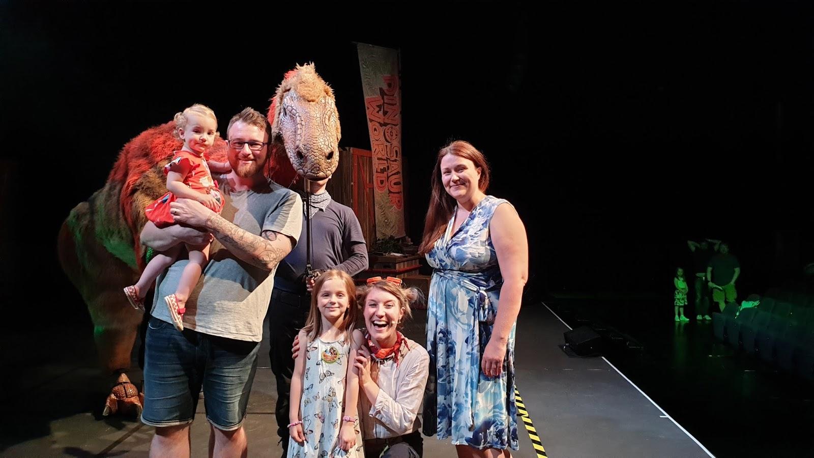 dinosaur family photo