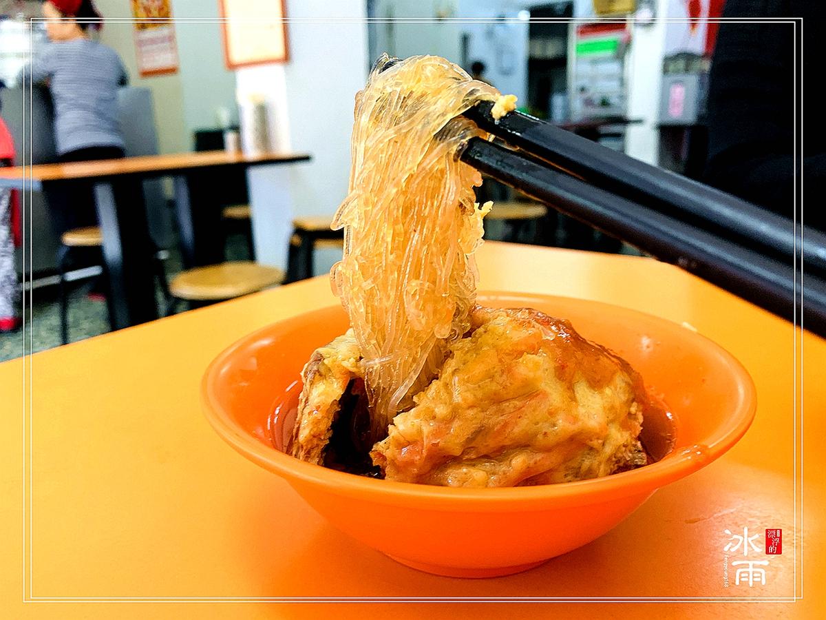 淡水特色小吃阿給,如何吃?要吃乾淨歐!