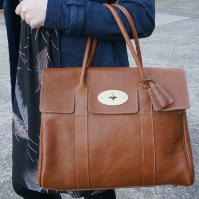 navy macintosh, Mulberry Bayswater in Oak NVT leather | Away From The Blue