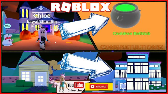 Roblox My Droplets Gameplay! Got a prize from the Haunted Mansion! Speed Building my house!