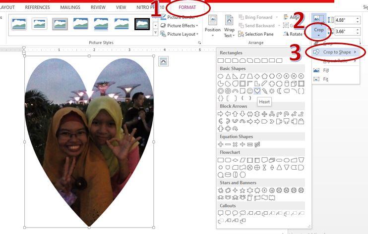 Cara Mudah Memotong Gambar Berbagai Bentuk di Microsoft Word
