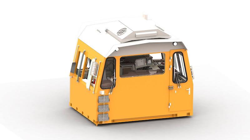Модуль кабины тепловоза ТЭМ10