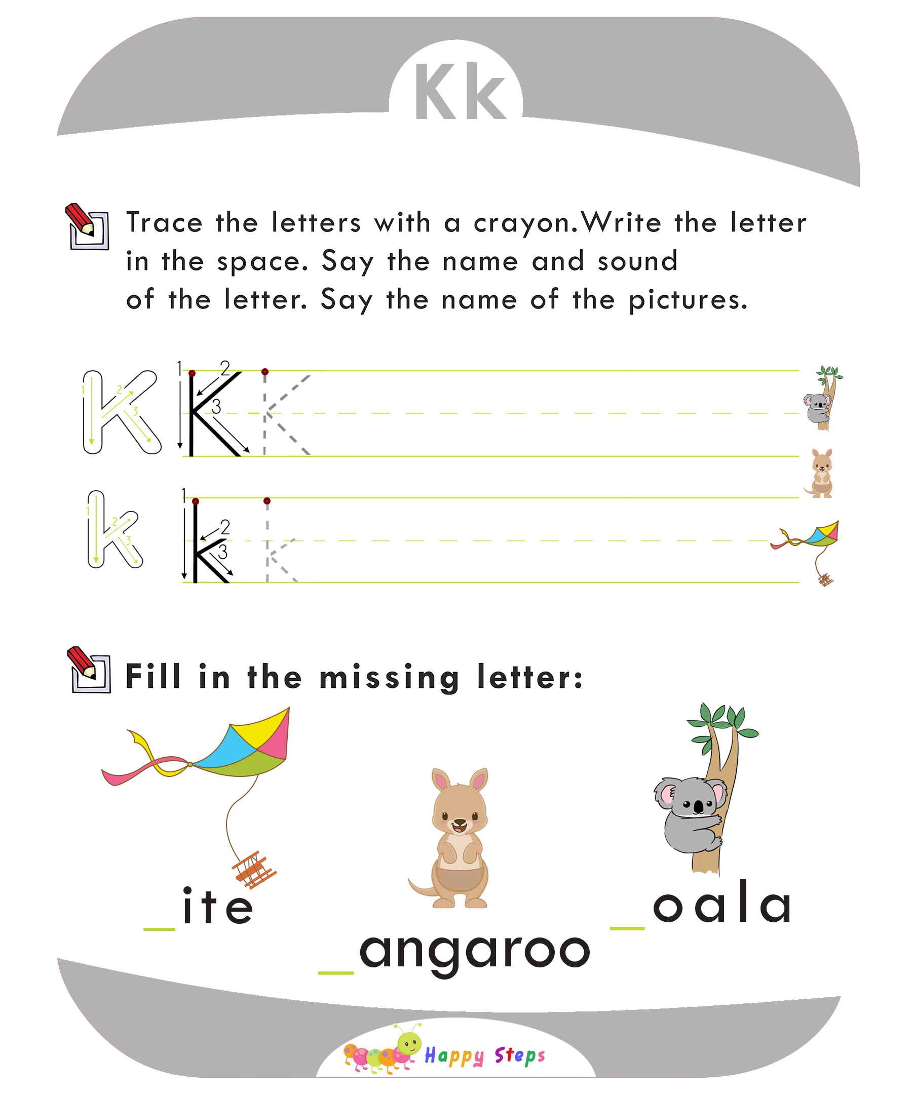 Activity Worksheet 2 Letter K