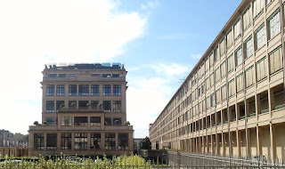 The vast Fiat plant at Lingotto was redesigned by the architect Renzo Piano. The rooftop test track remains