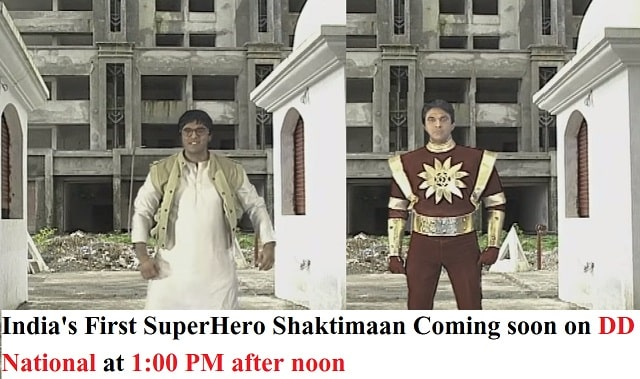 Watch India's First SuperHero Shaktimaan  on DD National