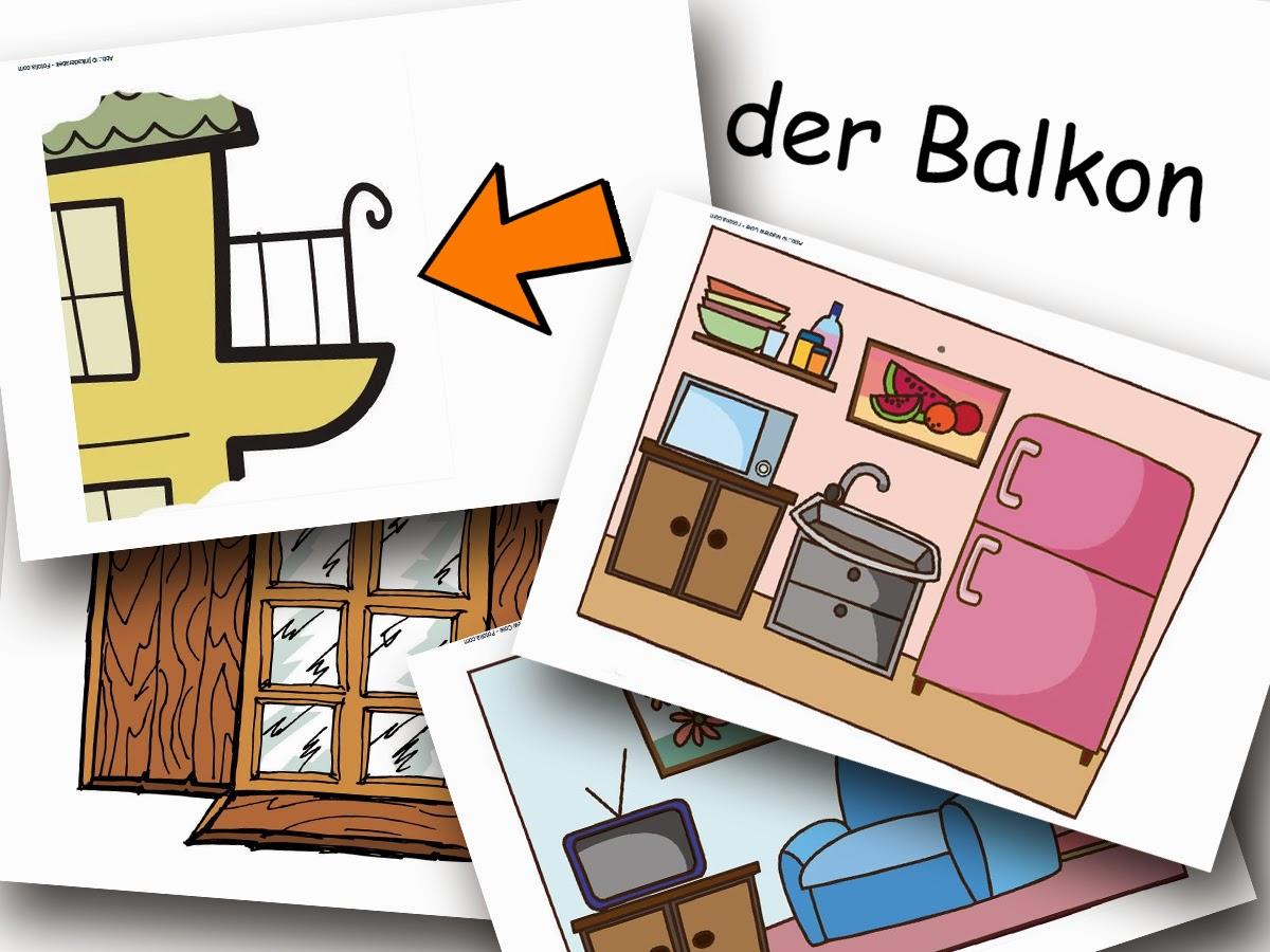 Bildkarten Unser Haus - DaZ Material für die Sprachförderung in der Grundschule
