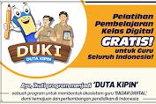 Daftar DUKI, Pelatihan Pembelajaran Kelas Digital Gratis untuk Guru Seluruh Indonesia