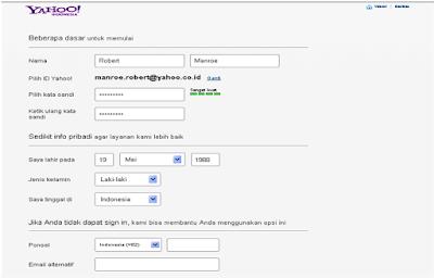 Cara Membuat Akun Google Di Yahoo