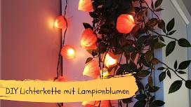Lichterkette mit Lampionblume
