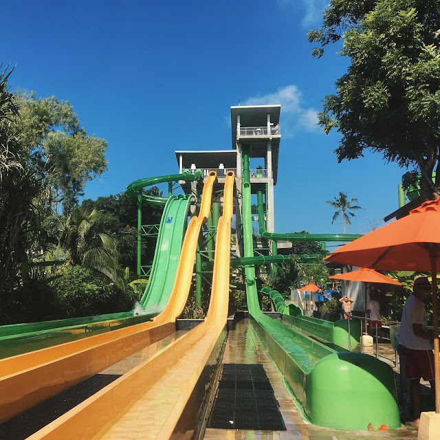 foto smash down di waterboom bali