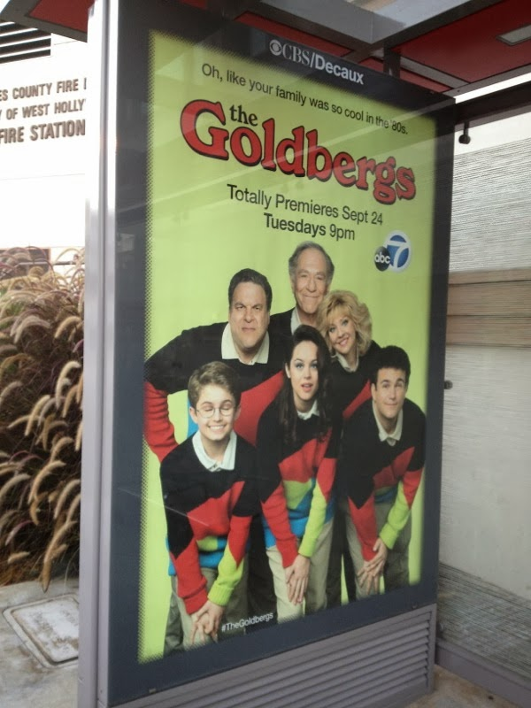 Goldbergs bus shelter poster