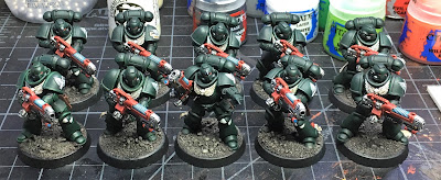 Dark Angels Primaris Hellblasters WIP week 3 progress