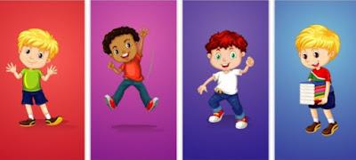 كرتون | صور اطفال كرتون PSD وفيكتور  جودة عالية لتصميمات كروت الاطفال بالاستوديو