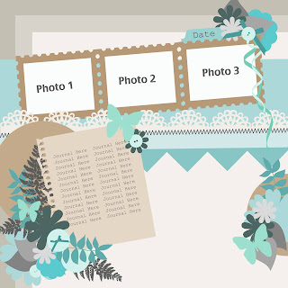 Free Layered Scrap Template - Multiple Photo #5