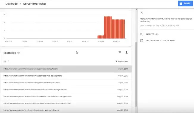 Google Search Console:- Server Errors Fixing