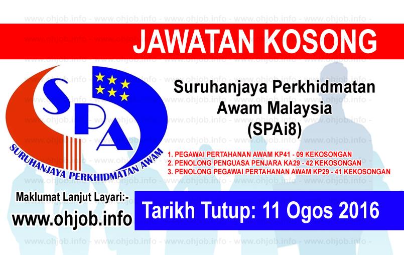Jawatan Kerja Kosong Suruhanjaya Perkhidmatan Awam Malaysia (SPAi8) logo www.ohjob.info ogos 2016