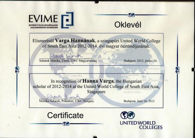 Az UWC a világ számos országában meghírdeti középiskolásoknak szóló  ösztöndíját. 2012-ben Magyarországról 5 fiatal nyerhette el ezt a nagyszerű  lehetőséget. fc0bb11f78