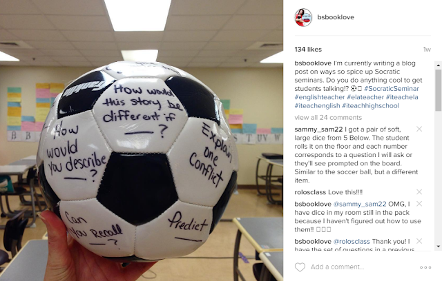 Soccer Ball Socratic Seminar and other great seminar ideas!