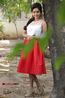 Actress Mahima Nambiar Latest Stills in White Top and Red Skirt at Kuttram 23 Movie Press Meet  0038.jpg