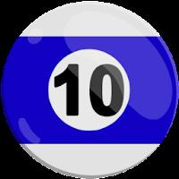 ten of strips pool ball