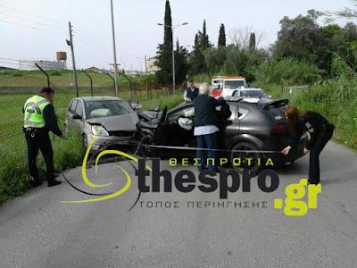 Σύγκρουση δύο οχημάτων με τραυματισμούς (+ΦΩΤΟ)