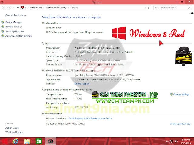 Windows 8 Red Edition 2017 x86 - عالم التقنيه