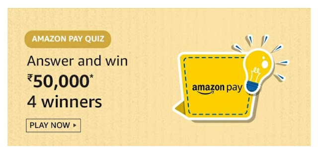 Amazon Pay Quiz answer and win