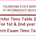 Manabadi TS Inter Time Table 2020 Download 1st 2nd year Intermediate Exam Dates