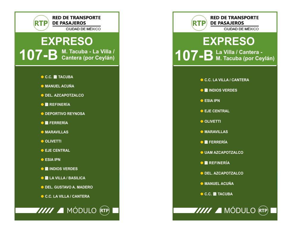 Circuito Bicentenario Expreso : Servicio expreso rtp m