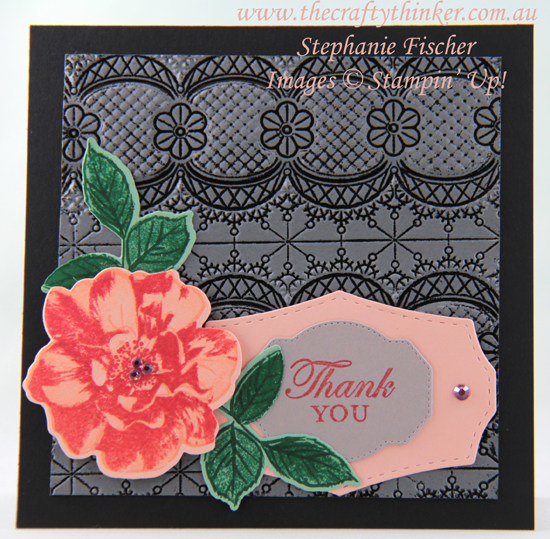 #thecraftythinker #stampinup #cardmaking #toawildrose #laceembossingfolder , To A Wild Rose, Lace embossing folder, Heat Embossing, Stampin' Up Australia Demonstrator, Stephanie Fischer, Sydney NSW