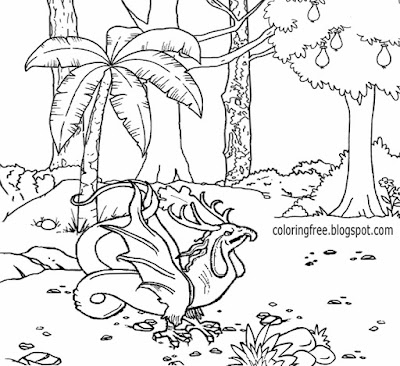 Enchanted forest wildlife wonderful land of magical & mystical creatures coloring book page for free