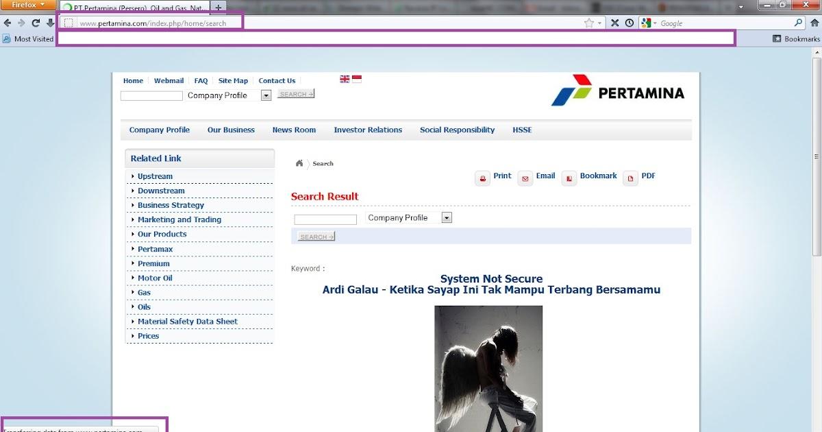 Vuln Pertamina Official Site