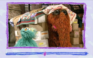 Snuffy drags away the house they built with Rosita. Rosita follows him. Sesame Street Elmo's World Building Things Video E-Mail