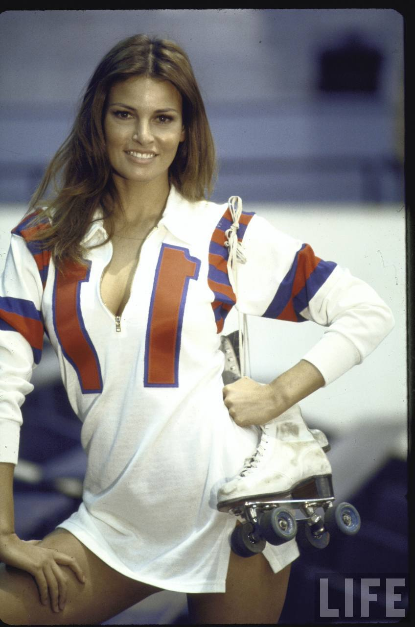 Rolling With Raquel Welch in Kansas City Bomber  vintage everyday
