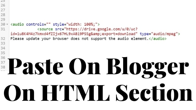 embed mp3 audio on blogger