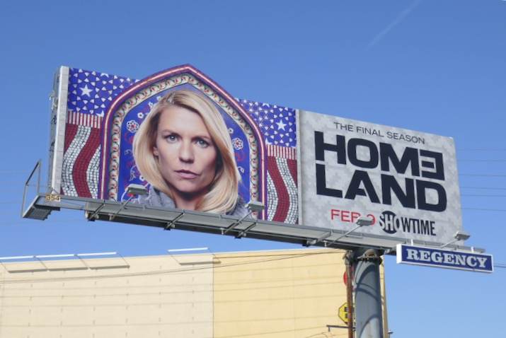 Homeland season 8 extension cut-out billboard