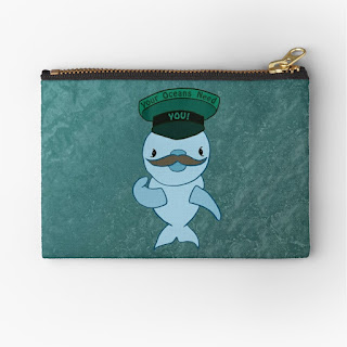 Dolphin on a zipper pouch