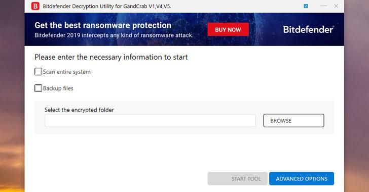 tải về công cụ chống ransomware GandCrab