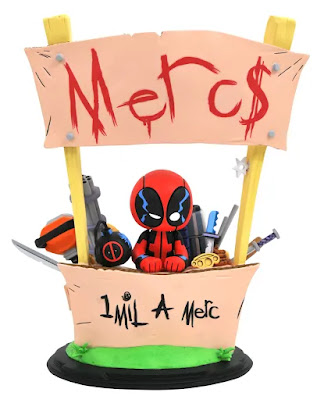 "Deadpool ""Merc for Hire"" Animated Marvel Mini Statue by Skottie Young x Gentle Giant x Diamond Select Toys"