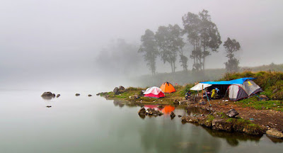 Lake Segara Anak 2000 meters Mount Rinjani