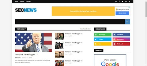 SeoNews Para Blogger Template